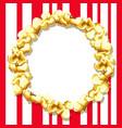 popcorn frame vector image