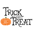 Pumpkin Trick or Treat vector image vector image