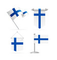 realistic 3d detailed finland flag banner set vector image vector image