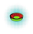 Round stadium icon comics style vector image vector image