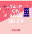 sale banner template discount poster promo vector image