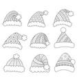 santa hats vector image