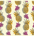 seamless pattern with the image of pineapple and vector image