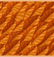 seamless repeating pattern of orange autumn leaves vector image