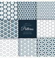 set of abstract geometric pattern design vector image vector image