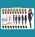 set of businesswoman character designfront side vector image vector image