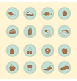 Set of foods indredients icons vector image vector image