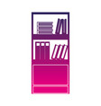 silhouette education bookcase with books vector image vector image