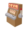 Slot machine jackpot cartoon icon vector image