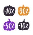 stylish sparkling pumpkins labels vector image