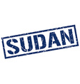 Sudan blue square stamp vector image vector image