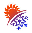 sun and snowflake vector image vector image