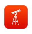 telescope icon digital red vector image vector image