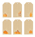 Thanksgiving day price tags vector image