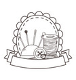 Thread needle button and pin design