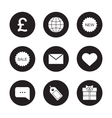 Web store black icons set vector image vector image