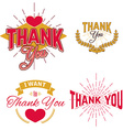 Thank You Day emblems vector image