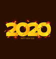 2020 happy new year gold numbers design of vector image vector image