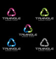 abstract 3d triangle logo template vector image