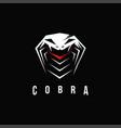 aggressive powerful cobra snake logo icon vector image