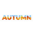 autumn in the double exposure vector image