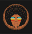 beautiful woman curly hair vector image