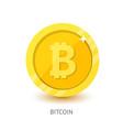 bitcoin icon modern flat design vector image vector image