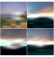 Blurred Sunset backgrounds set sunrise wallpaper vector image vector image