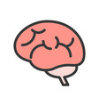 brain side view human organ related icon vector image vector image