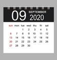 business calendar 2020 september notebook vector image