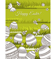 card for easter holidays with geometric decorated vector image