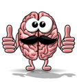 Cartoon brain vector image