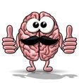 Cartoon brain vector image vector image