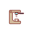 coffee machine flat icon sign symbol vector image
