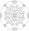 Coloring Lotus Mandala Diksha vector image vector image
