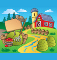 country scene with red barn 5 vector image