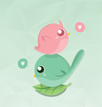 couples bird mini vector image