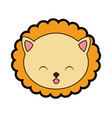 cute lion face cartoon vector image vector image