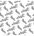 doodle travel airplane international transport vector image vector image