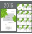 ECO style calendar of 2016 vector image