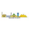 egypt outline skyline egyptian flat thin line vector image vector image