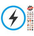 electricity symbol icon with valentine bonus vector image vector image