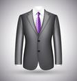 elegant business suit vector image
