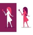 Elegant girl silhouette vector image vector image
