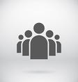 Flat group people icon symbol background