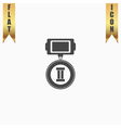 Flat icon of medal 2 places vector image vector image