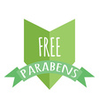 Free paraben label vector image