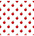 fresh red apple pattern vector image vector image