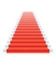 Front staircase and red carpet vector image