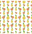 Fruits Seamless Background with Funny Lemons vector image